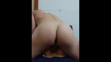 Outsider132 moaning and humping trying out new male masturbator pussy sex toy