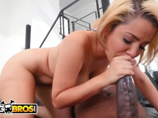 BANGBROS – Blonde Cutie Alix Lovell Takes On Mandingo's Infamous Big Black Cock