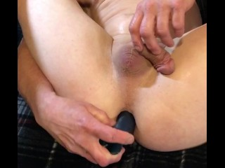 Hot straight guy anal play solo male...