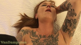 MILF covered in tattoos cream pie emo alt girl pov mompov
