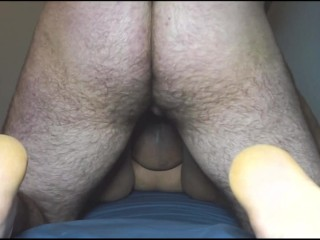 Premature creampie during doggystyle quickie with classmate...