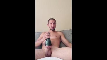 GIRTHYYYYGARYYY Stuffs Wet Fleshlight Full Of His Massive Cock Til Cumming All Over Himself!!