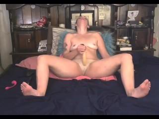 Masturbating hard with dildos hand and hard cum...