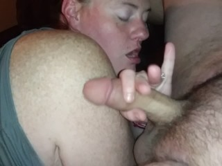 Babysitter stayed late and swallowed my cock for extra money