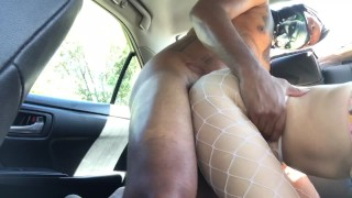 Tight Asian Pussy being used in the car.