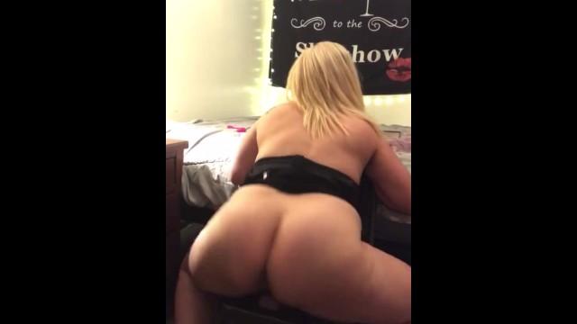 Hot Blonde Ass Dildo Ride