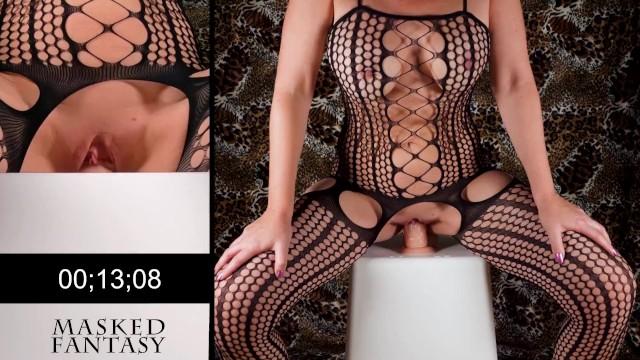 Squat fuck challenge - lingerie edition