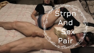 He was so excited by her dirty socks that he drank his own cum.