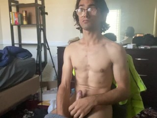 Cerebral palsy trying to jerk porn...