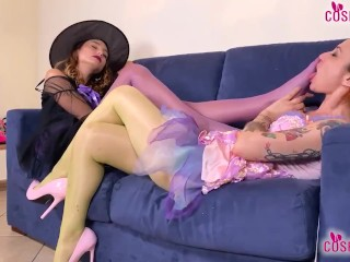 Witch and fairy pantyhose fun...
