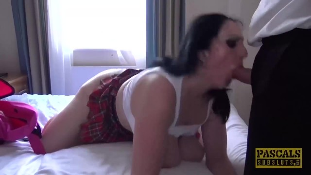 Big ass white milf Pascalssubsluts - submissive curvy gal ass fucked by master