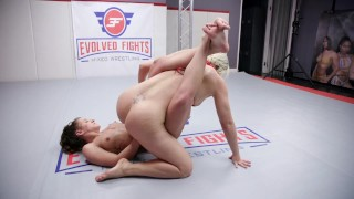 MILF Helena Locke Strapon Fucks and Fists Young Dakota Marr After Lesbian Wrestling Win