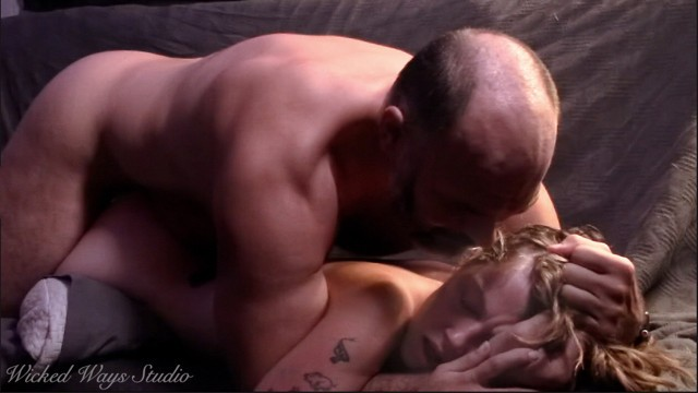 Babe fucking older sexy Lovely lavender joy begs me to cum in her tight pussy, older man has sensual sex with young babe