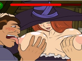 Trouble free and shy witch with huge breasts...