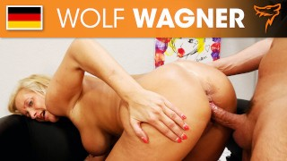 Leni is a naughty, busty chick who loves getting hard cock! WOLF WAGNER