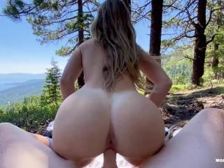 College slut gets railed on mountainside epic...