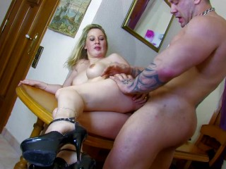 Beautiful chubby young blonde cheating wife with gets...