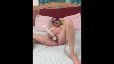 Smoking then enjoying my vibrator and my tasty cum