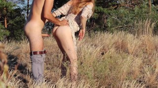 How to spend the last hot sunny days? Outdoor sex! Extreme fuck on wild nature - Ruda Cat