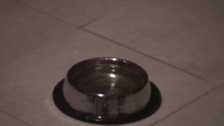 ulf have to drink pee in dungeon from bowl