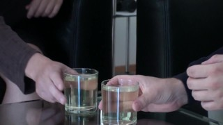 bizarrlady jessica spend two pissing friends full glasses