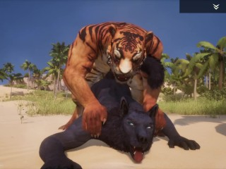 Wild life gay furry porn black wolf with...