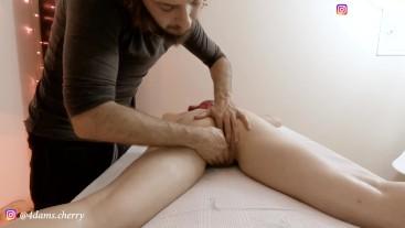 Hot Brazilian Teen Squirting in Massage Room - Cherry Adams - UNCUT