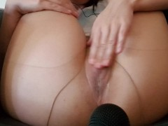 ASMR Soaking my pantyhose in dripping wet pussy juice (WET SOUNDS)