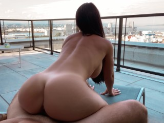HOT Teacher gets fucked on the roof of her school - PUBLIC