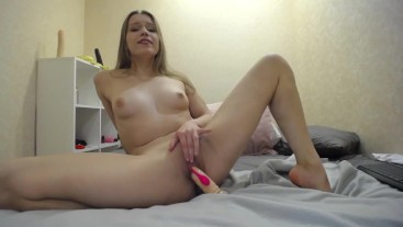 sucking toy, showing pussy and riding