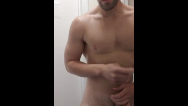 Anal fingering leads to a massive cumshot