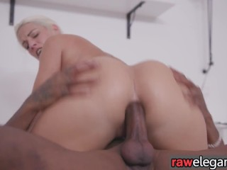Glam busty blonde anally rammed by BBC