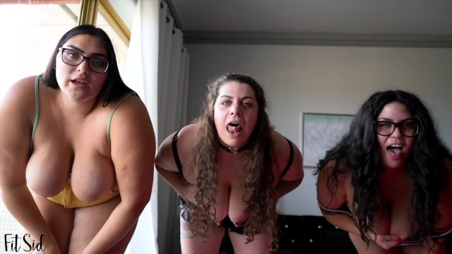 3 Curvy Babes Want to See You Jerk Your Cock 11