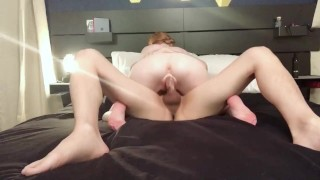 Tiny Teen Takes Control of Cock