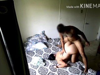 Horny Big Ass Latina Stepsister gets Fucked Doggy Style by Fit Tattooed Stepbro on Stepparents Bed