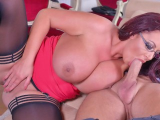 Busty sex goddess gives sex therapy 36f huge...