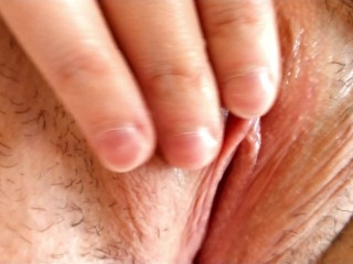 Whorish housewife teases her beautiful tight pink pussy...