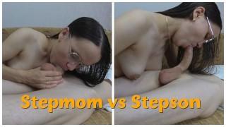 My Hot Stepmom Blowjob My Dick