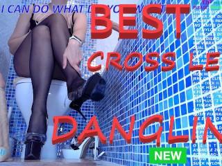 Dangling heel in toilet com...