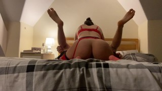 Sexy amateur girlfriend strapon pegging her sub boyfriend missionary style / Teaser