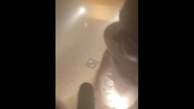 Getting my Dick Sucked in Public Sauna by two TEENS Zuzu Sweet Trukait 9