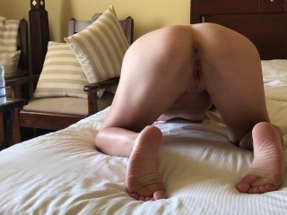 Bitch loves anal fingering and double penetration with loud moans