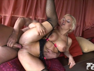 Dirty slut squirts fountain during...