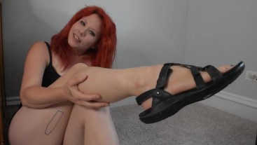 Very worn, dirty and smelly sandals worship