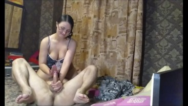Helga Bosk. MISTRESS RIDING ON THE GUY'S FACE AND FUCKS HIM WITH A STRAPON (HD)