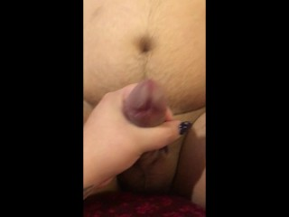 Double cum from being strapon fucked pegging bbw...