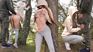 athletic bitch sucked in the forest and get nailed – teen porn