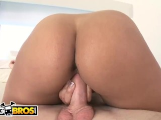 "BANGBROS – Busty Black Babe ""Monica"" Making All Of Brick Danger's Dreams Cum True"