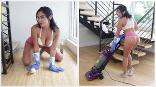 bangbros – sexy latina maid selena santa polishes bruno dickemz's knob – teen porn