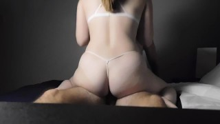 Doggy and Riding Leads to Creampie